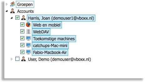 abonees in een vboxxcloud organisatie