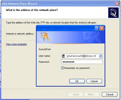 webDAV add network - vBoxxCloud