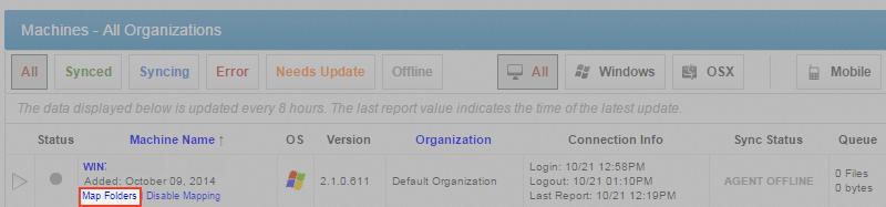 mapping folders - vBoxxCloud