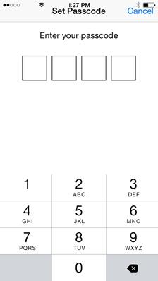 set passcode - vBoxxCloud
